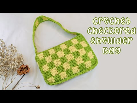 Easy Crochet Checkerboard Shoulder Bag Tutorial | Chenda DIY