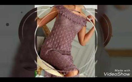 Elegante vestido tejido a crochet - los patrones