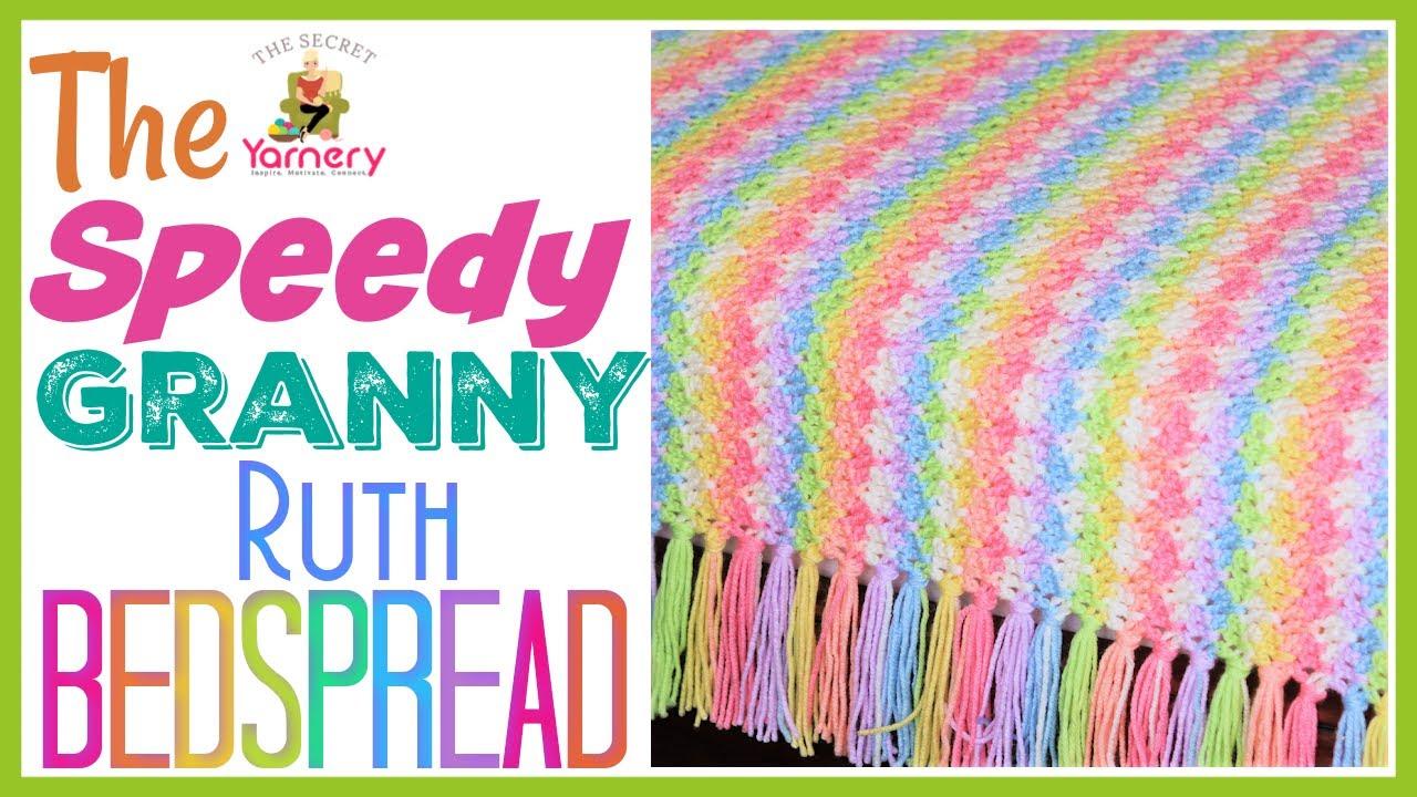 FASTEST CROCHET BLANKET EVER!   The Speedy Granny Ruth Crochet Bedspread   The Secret Yarnery