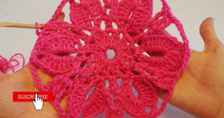 🌸Flor Wayta a crochet en pocos minutos!