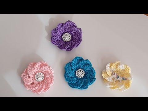 Flores A Crochet Fácil Y Rápido De Tejer Todo En Crochet