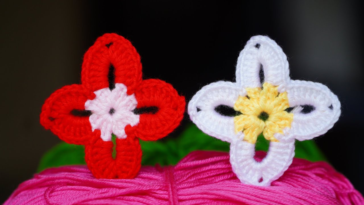 Flower Crochet, Flor Tejida Fácil paso a paso, Crochet flower EASY pattern