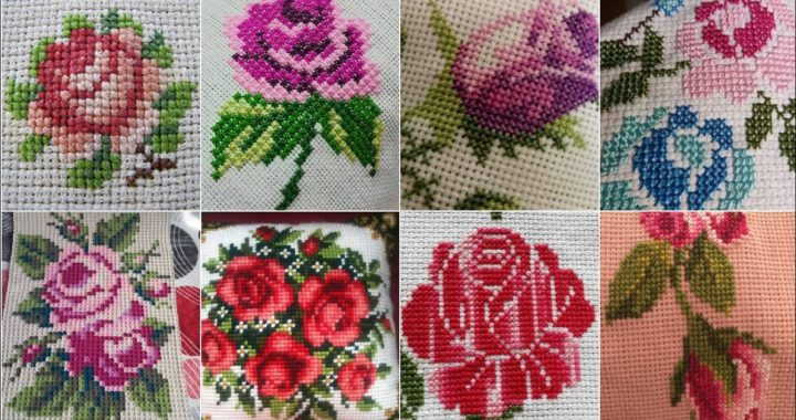 Flowers Vintage style Stylish Crossstich patrones & Most useful designers latest - new ideas