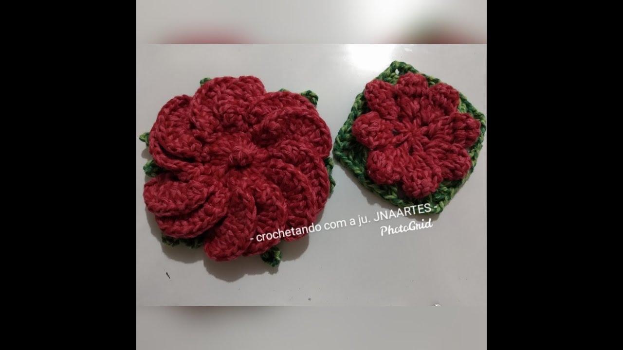 Folha para Flor de crochê/ SQUARE