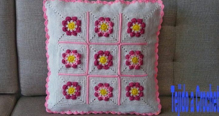 Funda Para Cojín Tejido a Crochet(Tutorial paso a paso)