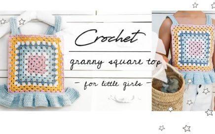 GRANNY SQUARE CROCHET TOP for little girls - Crochet summer top Tutorial, DIY, Step-by-step