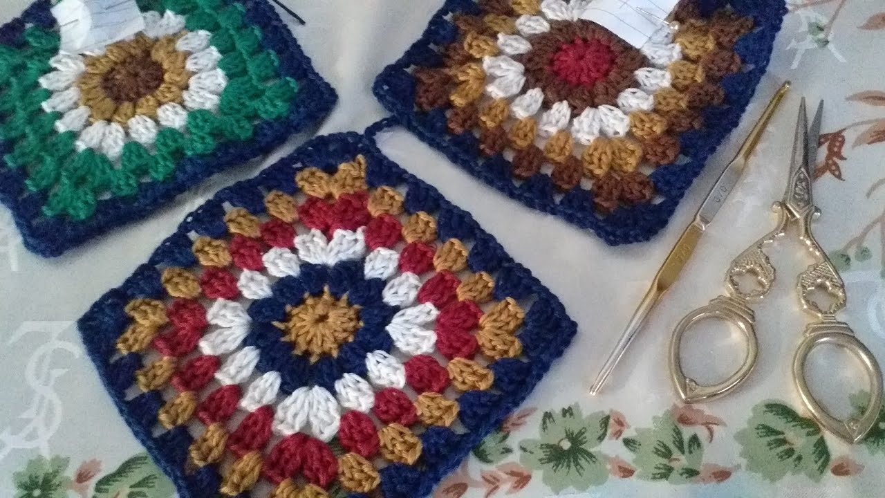 Granny Square Crochet Tutorial || How to crochet || DIY Tutorial Rajut Pemula || pola rajutan granny
