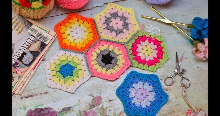 (Granny Unión de hexágonos) Técnicas, Crochet, y muchos Tips