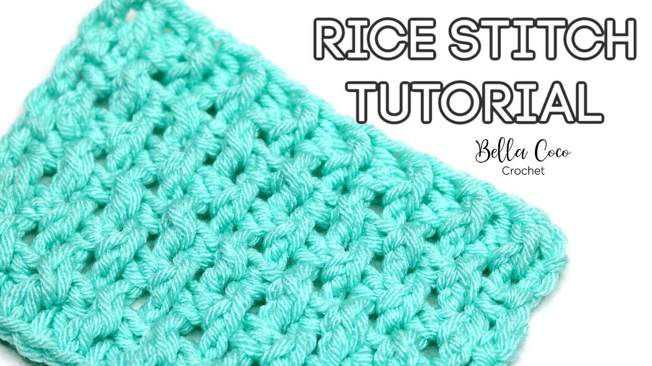 HOW TO CROCHET THE RICE STITCH | Bella Coco Crochet