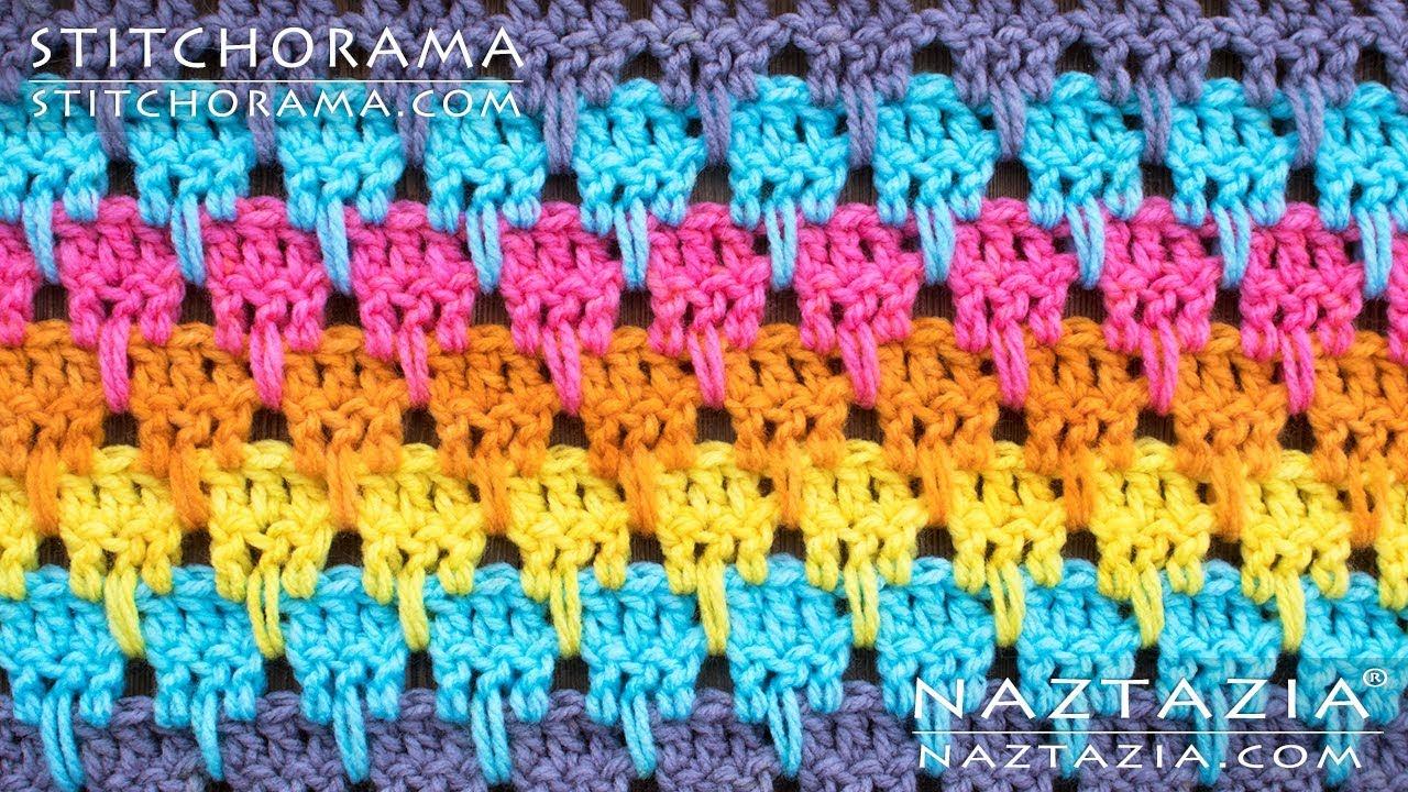 HOW to CROCHET LARKSFOOT STITCH Pattern - DIY Tutorial Stitchorama by Naztazia