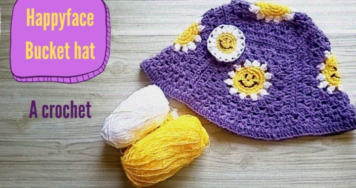 Happyface bucket hat| Gorrito a crochet de carita feliz super fácil para principiantes