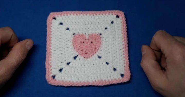 Heart Granny Square Crochet