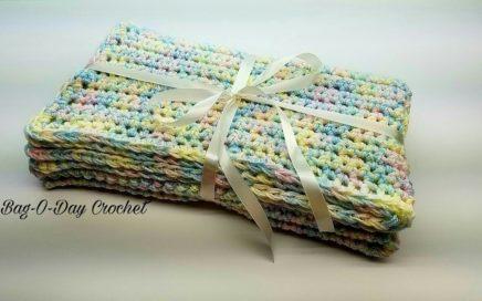 How To Crochet - BEGINNER BABY BLANKET | Easy Crochet Baby Blanket | BAGODAY Crochet Tutorial #457