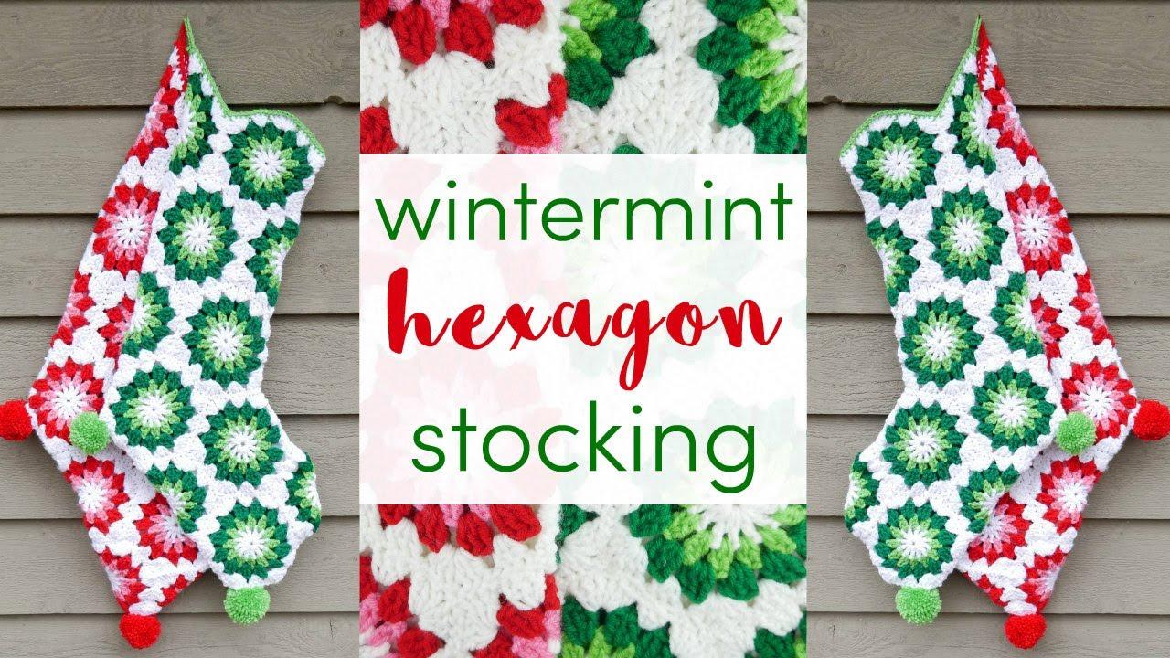 How To Crochet The Wintermint Hexagon Stocking