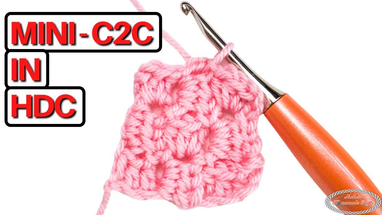 How to CROCHET CORNER TO CORNER in HALF DOUBLE CROCHET Easily
