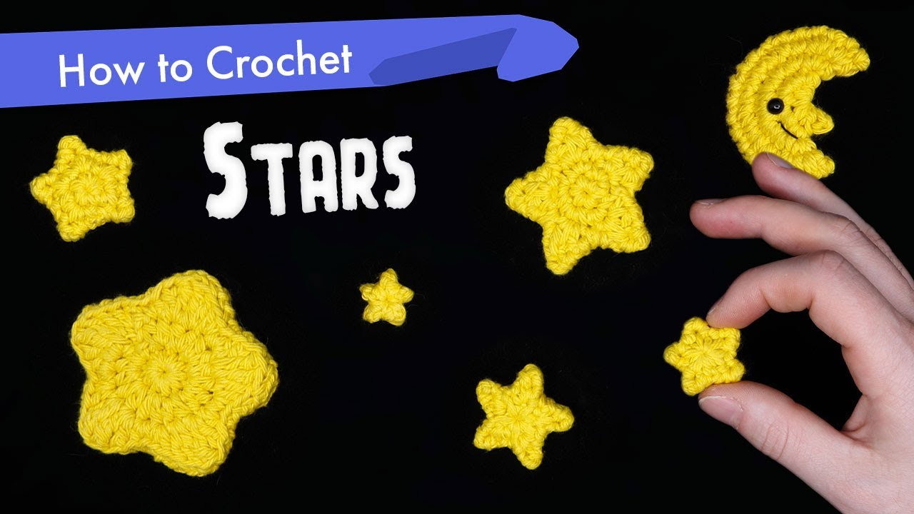 How to Crochet Stars in Different Shapes and Sizes    Amigurumi Pattern Tutorial