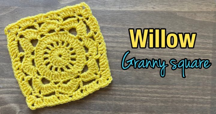How to Crochet Willow Granny Square/ Lacey flower granny square