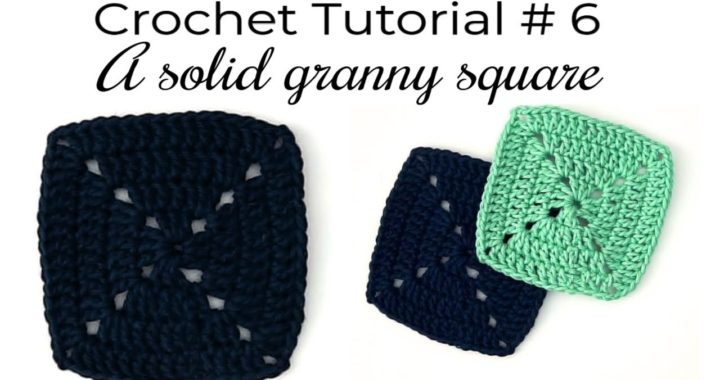 How to Crochet a Solid Granny Square for Beginners - EASY Tutorial