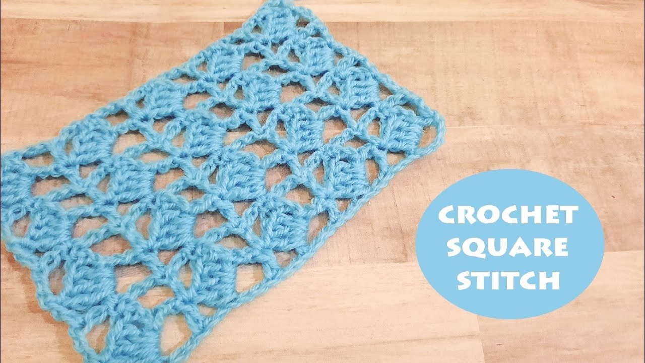 How to crochet a square stitch?   Crochet With Samra