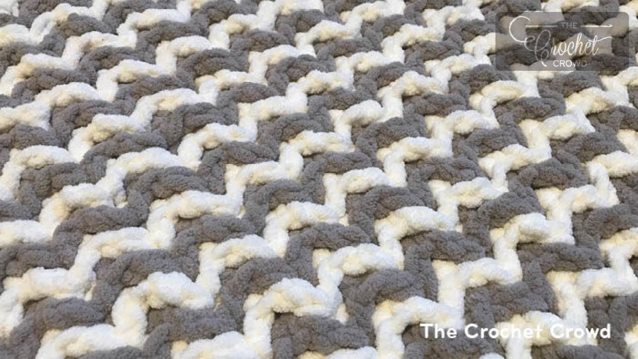 Interlocking Crochet for Beginners - Zig Zag