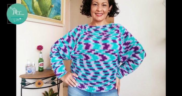 JERSEY MANGA AMPLIA // Bat Wings Sweater Crochet Tutorial