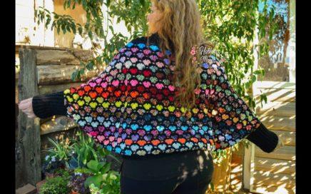 (Kimono de corazones) Paso a paso en crochet.
