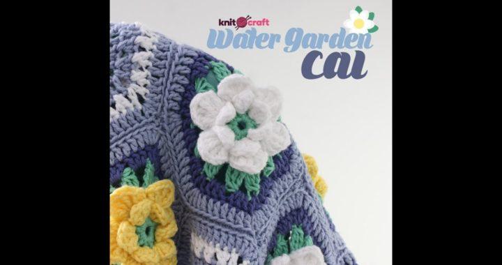 Knitcraft Water Garden week 1 Round 8 Daffodil/Water lily