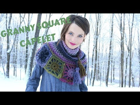 Kristy Glass Knits: Granny Square Capelet