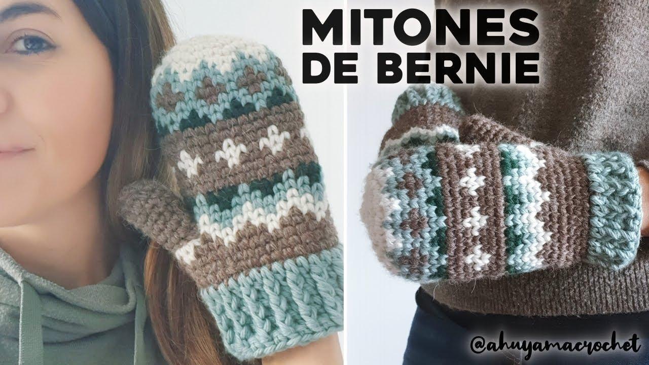 LOS MITONES DE BERNIE a crochet: cómo tejer los guantes / manoplas / mitones inspirados en el meme!
