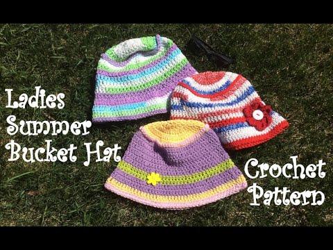 Ladies Summer Bucket Hat Crochet Pattern