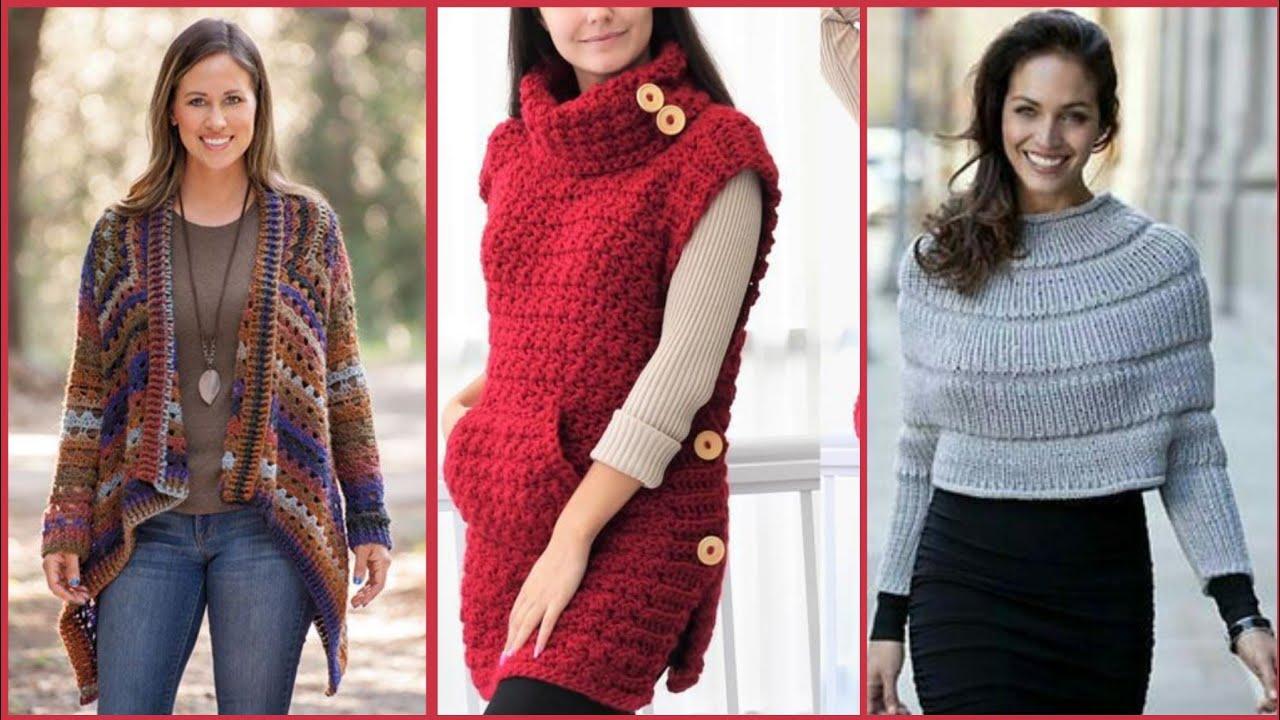 Latest stunning & fabulous casual crochet & wool ponchos,fancy square patterns/Trendi fashion