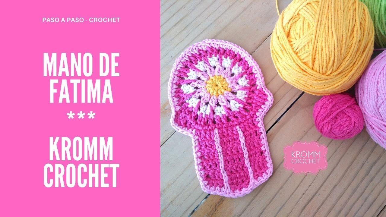 MANO DE FATIMA A CROCHET (Paso a paso) Amuleto