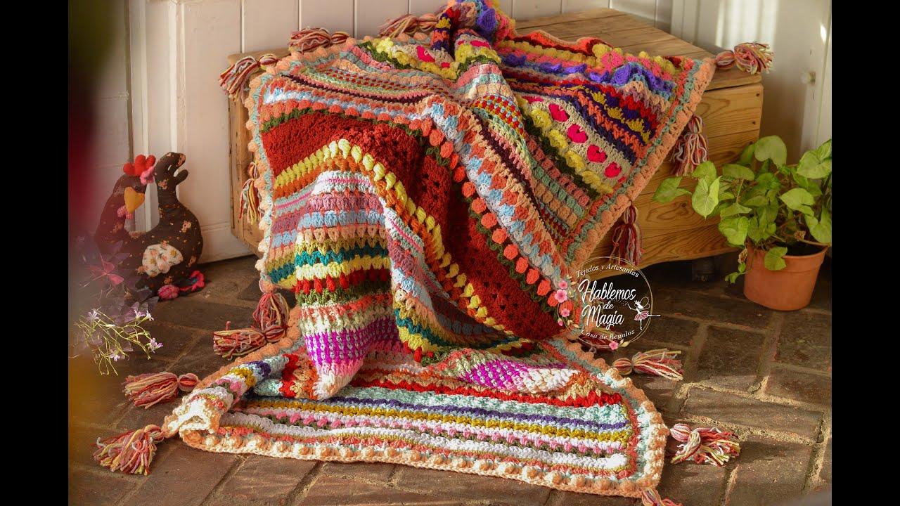 Manta  a crochet (La magia de todas) Parte 1