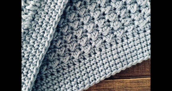 Manta/colcha a crochet, la más fácil ¡Paso a paso!