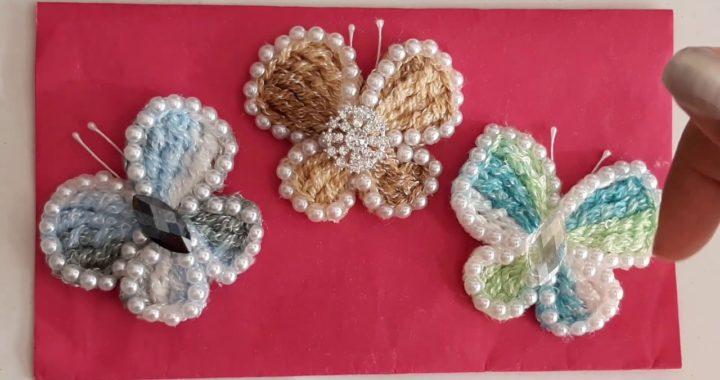 Mariposas a crochet muy facil de tejer - tutorial de ganchillo - todo en crochet