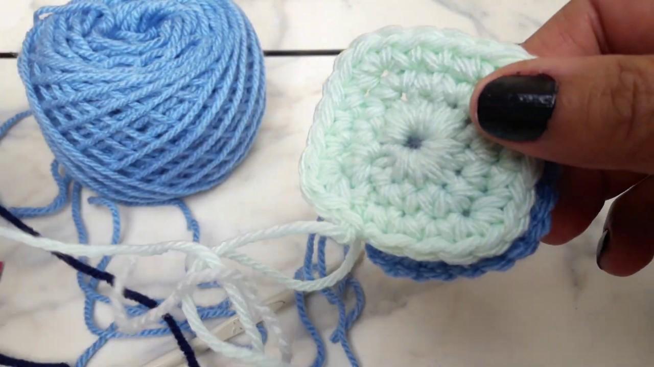 Mini cuadraditos tejidos a crochet #tejiendoargentina