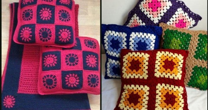 Most Beautiful Wonderful And Outstanding Crochet Cushions Cover Design And Pattern