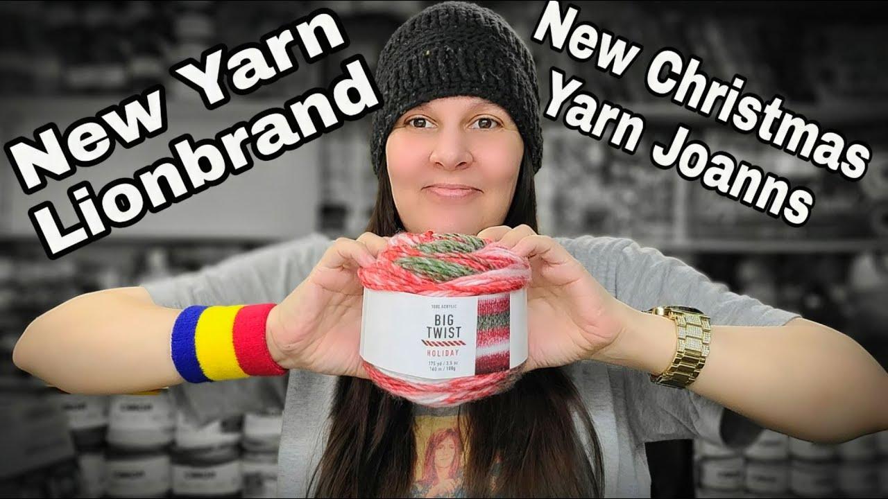 New Yarn from Lionbrand and Joanns new Christmas yarn | Bag O Day crochet| Yarn Haul