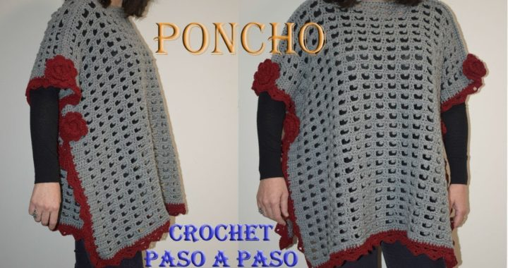 PONCHO fácil a CROCHET - Paso a paso