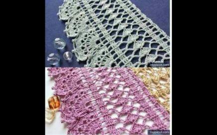 PUNTILLAS en horizontal a crochet con GRAFICO GRATIS NO 122