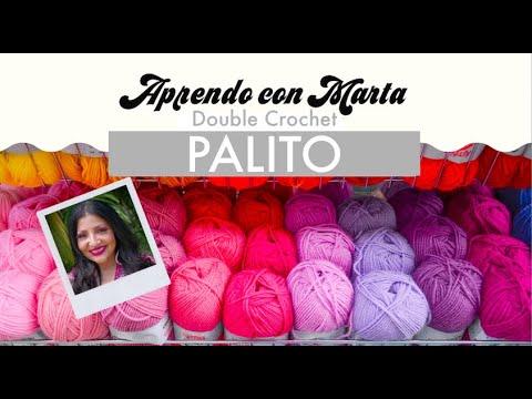 Palito/Vareta | Double Crochet | *MANERA FÁCIL DE HACERLO* | Aprendo con Marta
