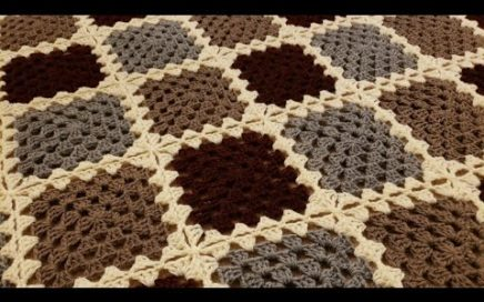 Part 1 - The Continuous Join-As-You-Go Granny Square Blanket Crochet Tutorial!