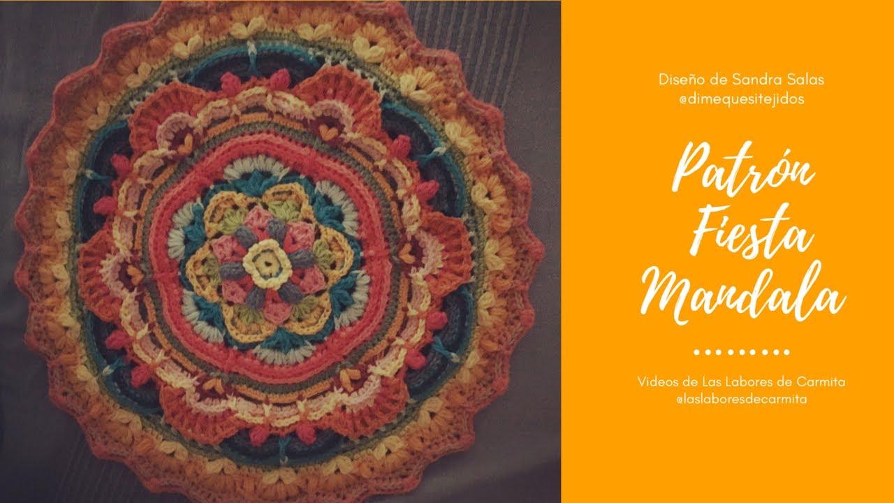 Patron Crochet Mandala Fiesta Etapa 1:4