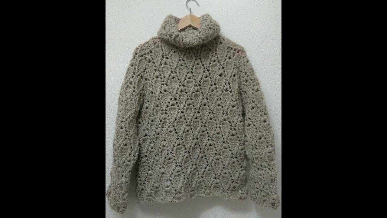 Patron jersey crochet: cuerpo y mangas