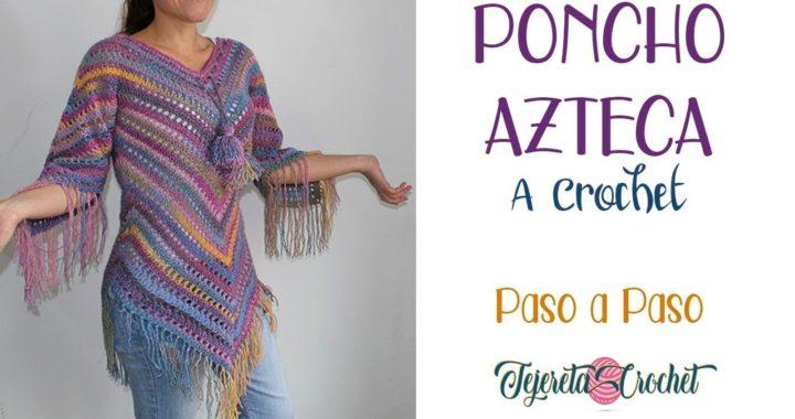 Poncho Azteca a Crochet paso a paso