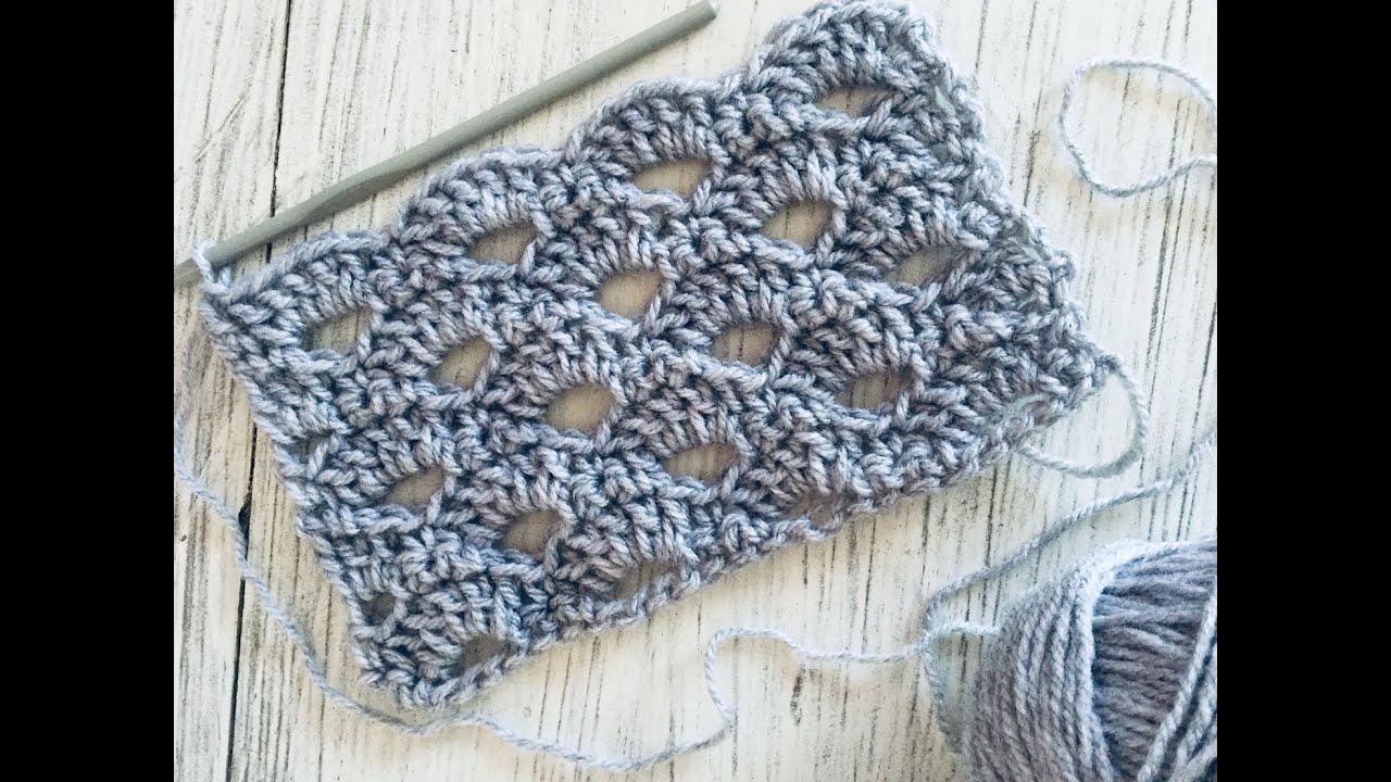 Puntada a crochet fácil:  Punto Calado