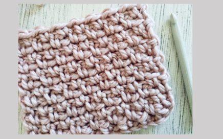 Puntada a crochet fácil y rápida: Punto musgo