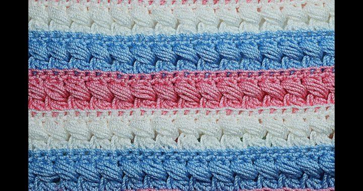 Puntada especial para mantas y cobijas muy facil y rapida #crochet #ganchillo
