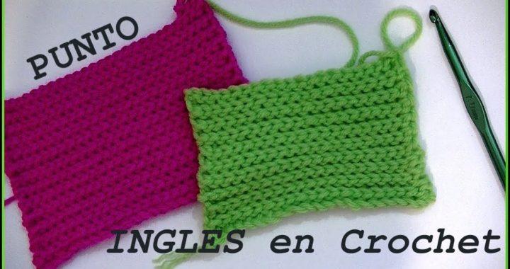 Punto INGLES en tejido #crochet o ganchillo tutorial paso a paso. Moda a Crochet