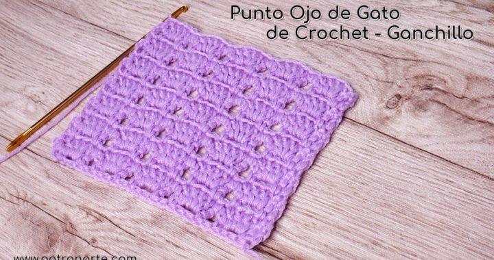 Punto Ojo de Gato de Crochet - Ganchillo   Tutoriales de Crochet Paso a Paso #crochet #ganchillo